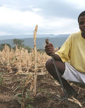A young man in drought conditions in Ethiopia (2008)