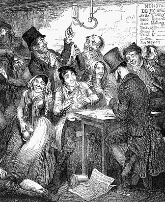"Gambling. George Cruikshank (1848) in ""Drunkard's Children."""
