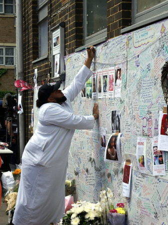 Grenfell Tower Tribute Wall