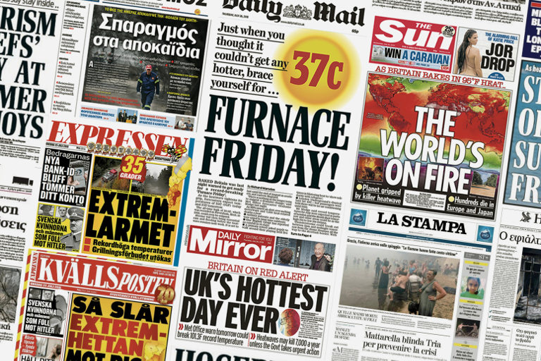 media reaction the 2018 summer heatwaves and climate