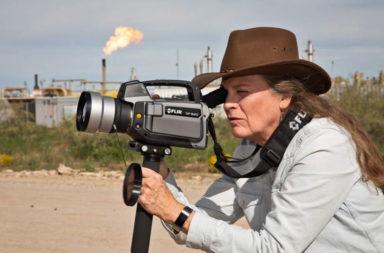 Sharon Wilson monitoring methane emissions