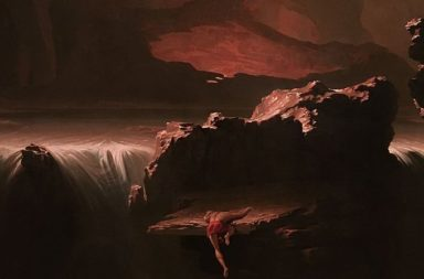 """Sadak in Search of the Waters of Oblivion"": painting by John Martin (1812)."