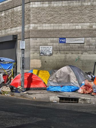 Tent neighborhood in Los Angeles