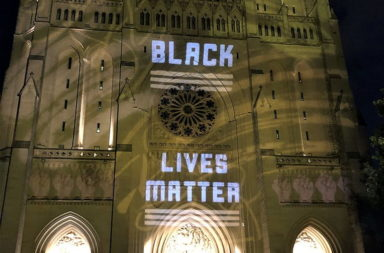 National Cathedral: Black Lives Matter sign