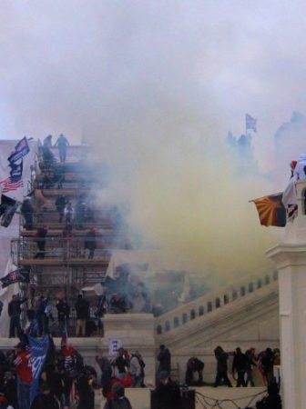 Tear gas outside the Capitol