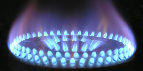 Burner with natural gas